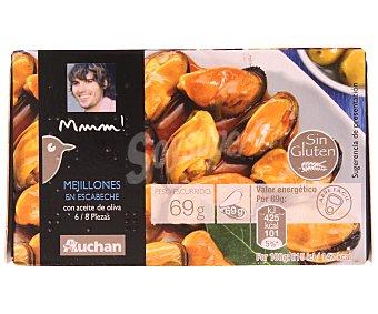 Mmm Auchan Mejillones aceite de oliva de las rías gallegas Lata de 63 grs
