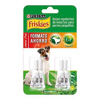 Friskies Purina Gotas repelente perro pequeño Pack 4 x 1 ml