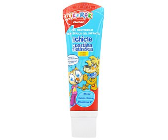 Rik&Rok Auchan Dentífrico Infantil Chicle Tubo de 50 Mililitros