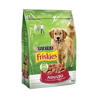 Purina Friskies Adulto pienso para perros adultos con buey, cereales y verduras añadidas Bolsa 3 kg