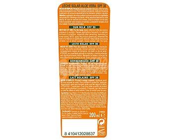 Babaria Leche solar hidratante con aloe vera y factor de protección 30 (alto) 200 ml