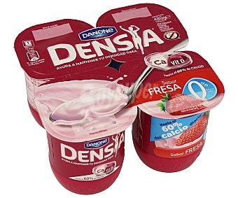 Densia Danone Yogur con sabor a fresa que ayuda a mantener tu densidad ósea y 0% 4 unidades de 120 g