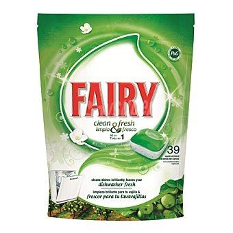 Fairy Lavavajillas máquina clean&fresh manzana todo en uno en pastillas 39 ud