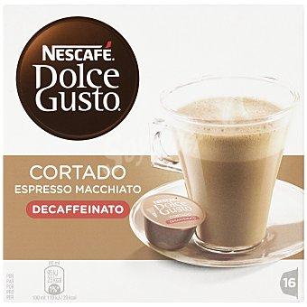 Dolce Gusto Nescafé Café Cortado Decaffeinato Envase 16 unidades