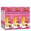 Bebida de fruta + leche fresa-plátano sin azúcar añadido Pack de 6 briks de 20 cl Juver