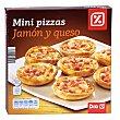 Mini pizzas jamón y queso caja 270 gr 270 gr DIA