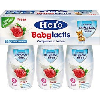 Hero Baby Fresa leche infantil desde los 6 meses Lactis