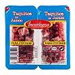 Jamon curado taquitos Pack 2 x 100 g - 200 g Incarlopsa