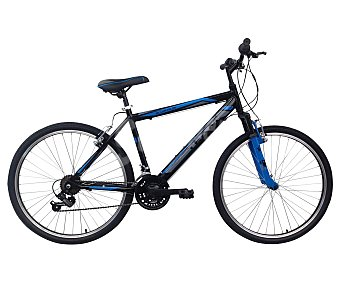TEAM Bicicleta de montaña de 24 pulgadas con cuadro de aluminio, 21 velocidades y frenos v-brake 1 unidad