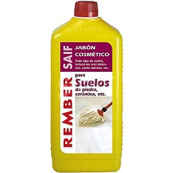 Rember Limpiador jabon cosmetico para suelos de piedra y ceramica Botella 1 l
