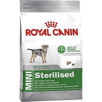Royal Canin Mini sterilised pienso para perros adultos esterilizados de razas pequeñas + bolsa 2 kg 10 kg