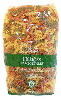 Hacendado Helices pasta vegetal Paquete 750 g