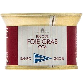 Hipercor Bloc de foie gras de oca lata 130 g Lata 130 g