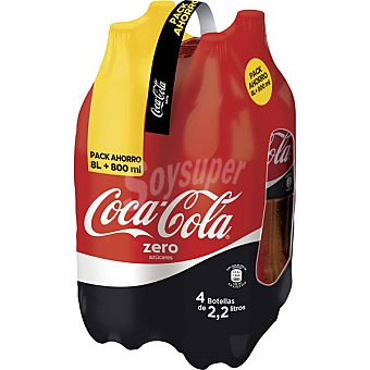 Coca-Cola Refresco de cola Zero Pack 4x2,20 l