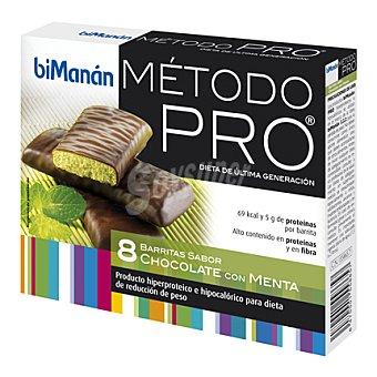 Bimanán Barrita sabor chocolate con menta 160 g