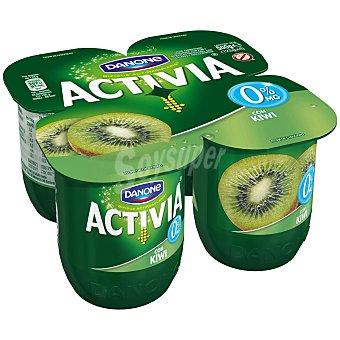 DANONE ACTIVIA Yogur desnatado con kiwi 0% materia grasa  pack 4 unidades 125 g