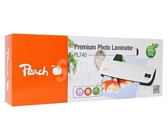 Peach Plastificadora Tamaño Folio, Expesor Máximo 2 x 125 Micras, Ancho Máximo 230 mm, Máximo espesor de Plastificado 0.5 mm y con Temperatura Controlada Automaticamente Modelo PL 740 1 Unidad