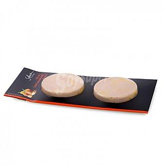 Carrefour Selección Foie gras de oca Mi-cuit bloc pack de 2 unidades de 40 G 80 g