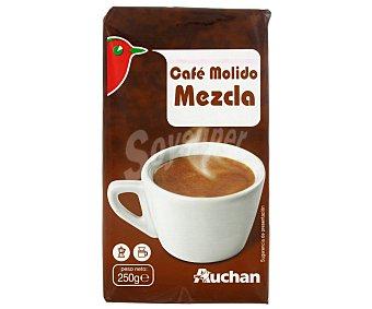 Auchan Café molido mezcla de tueste natural 50% y torrefacto 50% 250 gr