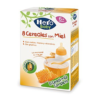 Hero Hero Papilla 8 Cereales con Miel 600 gr