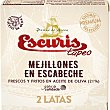 Tapeo mejillones en escabeche frescos y fritos en aceite de oliva neto escurrido Pack 2 lata 35 g Escuris