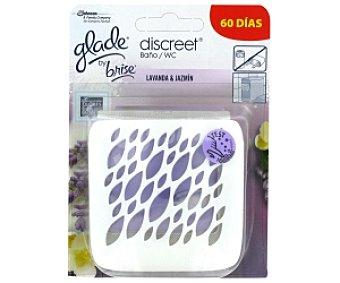 Glade Discreet Aparato ambientador baño, lavanda Discreet 12 Gramos