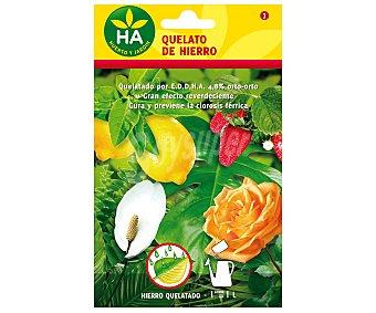 HA-Huerto y Jardín Quelato de hierro soluble, sobre para preparar 1 Litro 2,5 Gramos