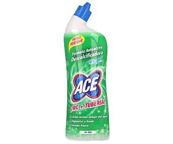 Ace Limpiador WC y tubería WC en gel líquido con fórmula descalcificadora y sin lejía (actúa debajo del agua) 700 mililitros
