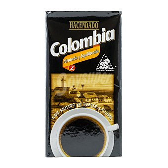 Hacendado Cafe molido natural colombia Nº 2 Paquete 250 g