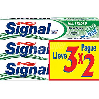 Signal Pasta de dientes gel fresco Pack 3 tubo 75 ml