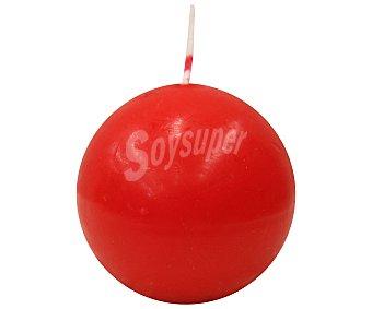 Auchan Vela con forma de bola de color rojo, 6 centímetros 1 Unidad