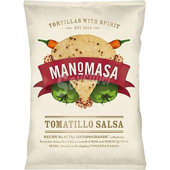Manomasa Snacks tortilla chips salsa tomatillo bolsa 160 g bolsa 160 g