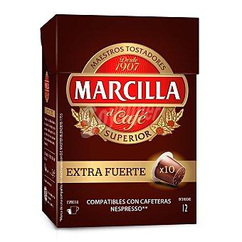 Marcilla Café extra fuerte intensidad 12 Estuche 10 cápsulas