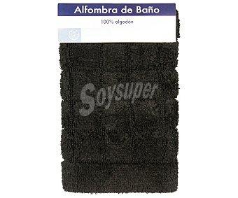 AUCHAN Alfombra nudo antideslizante color negro, 40x60 centímetros 1 Unidad