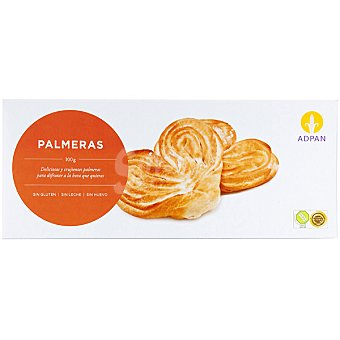 Adpan Palmeras sin huevo y sin gluten Envase 100 g