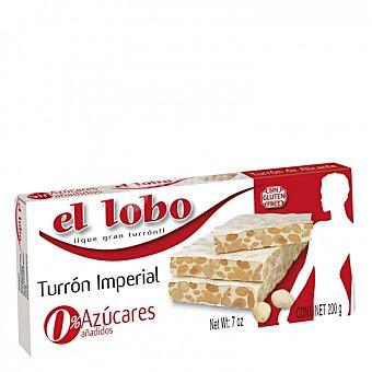 El Lobo Turrón de Alicante sin azúcar añadido sin gluten 200 G 200 g