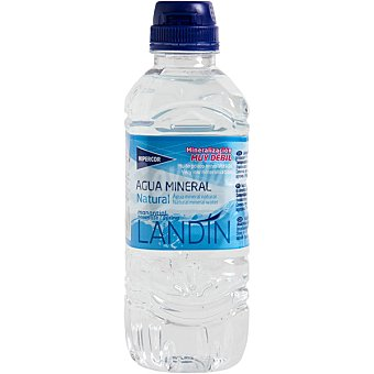 Hipercor Agua mineral natural de mineralización muy débil Botella 33 cl