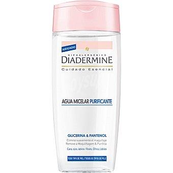 Diadermine Cuidado Esencial Agua Micelar Purificante elimina el maquillaje de cara ojos y labios frasco 200 ml para todo tipo de piel Frasco 200 ml