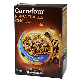 Carrefour Cereales con fibra sabor chocolate 500 g