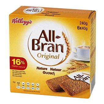 All Bran Kellogg's All Bran Natural Barrita  Pack de 6x40 g
