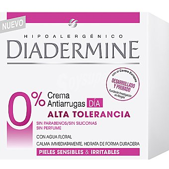 Diadermine Crema de dia antiarrugas alta tolerancia 0%  50 ml