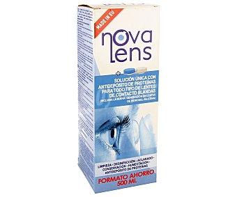 NOVA LENS Solución única para todo tipo de lentes de contacto blandas 500 mililitros