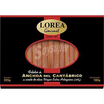 LOREA anchoa del Cantábrico bandeja 180 g neto escurrido