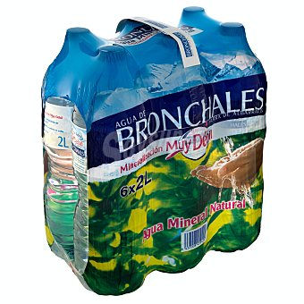 Bronchales Agua mineral natural de mineralización muy débil 6 botellas de 2 l