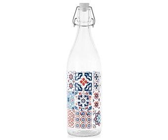 Pasabahce Botella de vidrio con tapón hermético de clic, diseño Mayorca, pasabahce