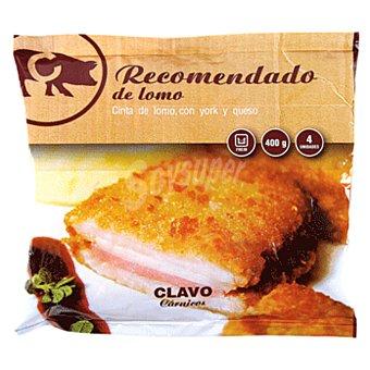 Clavo Cinta de lomo, con york y queso bolsa 400 gr Bolsa 400 gr