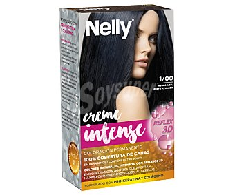 Nelly Tinte de color negro azulado, número 1/00 Creme intense