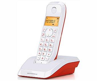 MOTOROLA S1201 ROJO Teléfono inalámbrico Dect motorola startac S1201 rojo/blanco, identificador de llamadas, manos libres, agenda para 50 contactos