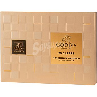 GODIVA Carrés Dark de chocolate negro 72% cacao 36 piezas Estuche 180 g