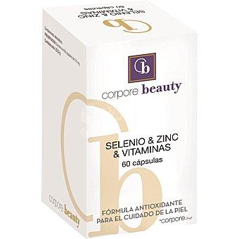 Corpore Beauty Selenio Zinc y Vitaminas fórmula antioxidante para el cuidado de la piel 60 cápsulas